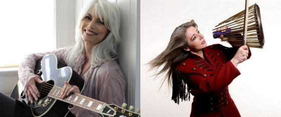 Emmylou Harris och Evelyn Glennie prisas